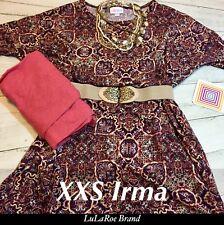 Lularoe Outfit XXS Irma Medallion Kaleidoscope Purple Os Heathered Leggings.