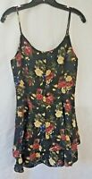 RAMPAGE- Spaghetti Strap Tiered Party Dress- Black Floral- 9 Super Pretty!