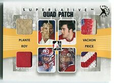 2013 ITG Fall Expo JACQUES PLANTE Patrick Roy CAREY PRICE Vachon Quad Patch 1/1