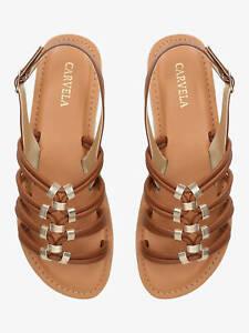 BNIB Carvela Gladiator Style Birkby Tan Flat Sandals Size 39 / UK 6 RRP £59