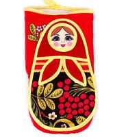 Oven Mitt Adjustable Flame Heat Protection Pot Holders Nesting Doll Matryoshka