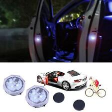 2pcs Universal Wireless Car Door LED Opened Warning Flash Light Anti-collid Blue
