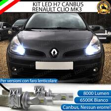 KIT FULL LED RENAULT CLIO MK3 FARO LENTICOLARE H7 ABBAGLIANTE CANBUS 8000 LUMEN