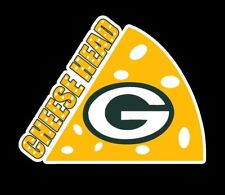 """Cheesehead Green Bay Packers Fan Car Vehicle Vinyl Decal Sticker 4"""" Cheeseheads"""
