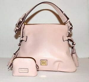 Dooney & Bouke Pale Pink Leather w Tassels Tote Bag + Coin Purse & Dust Bag NWOT