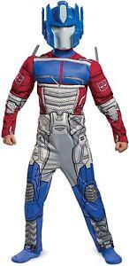 NEW Licenced Kids Boys Optimus Prime EG Transformers Muscle Fancy Dress Costume