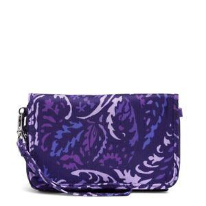 Vera Bradley *PAISLEY AMETHYST* Lighten Up RFID 3 in 1 Crossbody Wallet Bag NWT