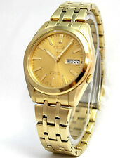 Seiko 5 Automatic 21 Jewels Gold Tone Men's Watch SNKH02K1