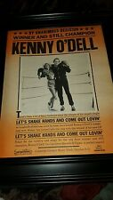 Kenny O'Dell Let's Shake Hands And Come Out Lovin' Rare Promo Poster Ad Framed!