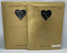 2 Pair VINTAGE Victoria secret lingerie for legs Glitter Pantyhose Medium.
