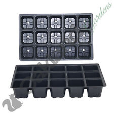 25 X 15 Cell Full Size Seed Tray Inserts Plug Trays Bedding Plant Packs Plastic