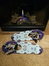 "New listing Tubbs Venture Aluminum Snowshoes 25"" ~ Adult ~ light blue + purple ~ pre-owned"
