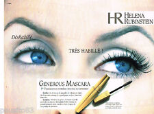 PUBLICITE ADVERTISING 085  1996  HELENA RUBINSTEIN   maquillage GENEROUS MASCARA
