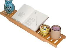 """Bamboo Large 28.7"""" Long Slatted Bathtub Tray by Trademark Innovations"""