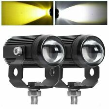 2x 1.3inch Motorcycle LED Work Light Pods Auxiliary Driving Fog Amber/ White Lam
