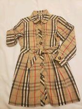 Authentic Burberry girls dress 4Y EUC