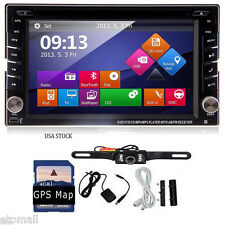 2 Din 6.2'' Car DVD Radio Stereo Player with GPS Navigation BT Ipod+Camera+MAP