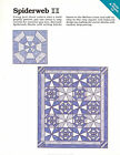 Spiderweb ~ Quilt & Block, Spinning Spools quilt sewing pattern & templates