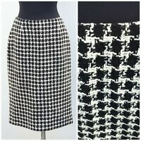 WOMENS black and white wool skirt by Hobbs  Size 14, Work, Office, Career ,Smart