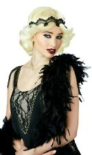 20s Glitz & Glamour Flapper Blonde Wig Free Breast Cancer Ribbon Pin 70740