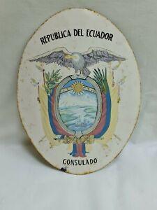 Escudo consulado de la República del Ecuador