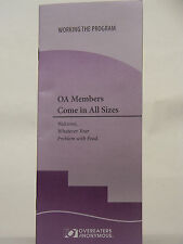 OVEREATERS ANONYMOUS - OA MEMBERS COME IN ALL SIZES - PAMPHLET