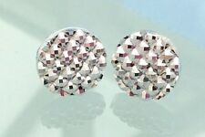 Sparkly Silver Crystal Diamante Style Rhinestone Stud Earrings