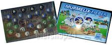Alle 24 Murmeln real MURMELIX-FIEBER mit Sammelkoffer komplett