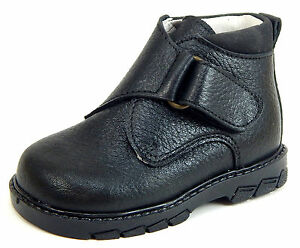 DE OSU/FARO - Boys Black Leather Dress/Casual Boots - European - Shoes Size 3-9