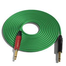 (ONE)15' Canare GS6 Guitar Cable w/Neutrik Silent Plug NP2X-AU ¼ - NP2X-B_GREEN