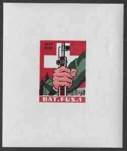 Switzerland Soldier stamp: Infantry, INF #5a Einerbogli Bat.Fus.1, CV$100 -ow403