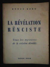 La révélation Rünciste - Rünce Borg 1966 - Mystères création - Ed. Initior signé