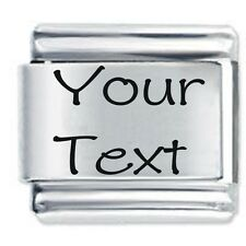 Custom made Any Text or Name Personalised Italian Charm Daisy Charm Classic size