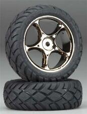 Traxxas 2479A Bandit VXL Front Tracer Black Chrome Wheels w/Anaconda Tires (2)