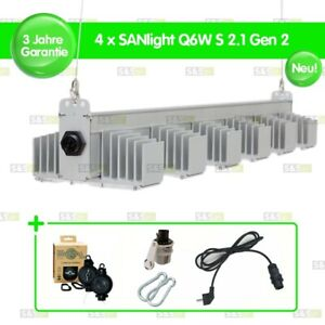 4x SANlight Q6W S2.1 Gen2 245W + Easy Rolls + Netzkabel + Karabiner + Dimmer