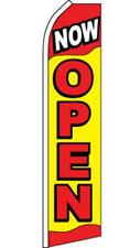 Super 15' Ft Swooper Now Open Flag advertizing Tall Sign Super #672 car Banner