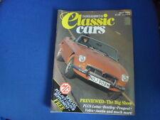 CLASSIC CARS MAGAZINE LOTUS BENTLEY PEUGEOT volvo austin 5.1986 AA1