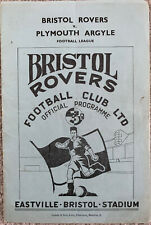 More details for bristol rovers v plymouth argyle 1950/51