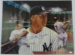 Mickey Mantle New York Yankees Autographed 18x24 Poster (No. 7)(wrinkled) JSA