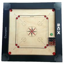 CARROM BOARD GAME CHAMPION FULL SIZE W/FREE WOOD COINS + STRICKER HAPPY NEW YEAR
