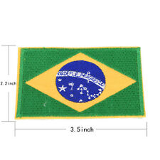 Nation Flagemblem Embroidered Trim Applique National Country Sew/iron on Patchat Brazil Flag