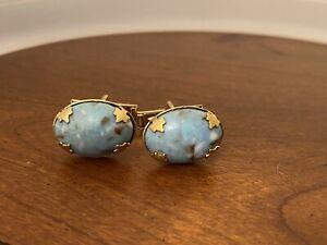 Vintage Turquoise Cabochon Cufflinks