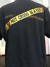 VTG Slayer Police Tape Tour Shirt Sz XL Suicidal Venom Rock Exodus Metal Priest