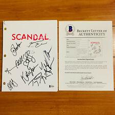 SCANDAL SIGNED PILOT SCRIPT BY 8 CAST - TONY GOLDWYN KERRY WASHINGTON w/ COA