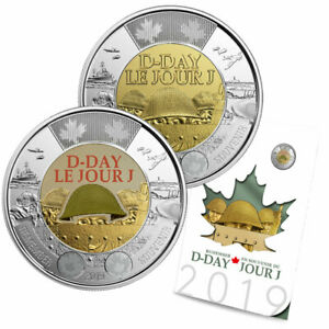 2019 Canada D-Day Commemorative Collector Keepsake Set of Coins
