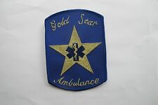 GOLD STAR AMBULANCE,EMS APPLIQUE PATCH