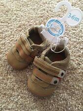 The Children's Place Infant Boys Brown Orange Dress Shoes Size 3–6 M Nwt