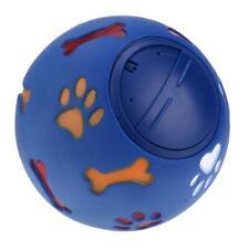 Pet Dog Treat Trainning Chew Sound Food Dispenser Toy(Blue)(7.5cm) #Z