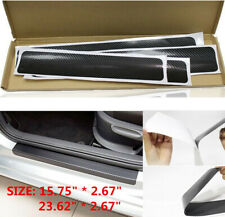 4x Accessories Carbon Fiber Car Scuff Plate Door Sill 3D Sticker Protector
