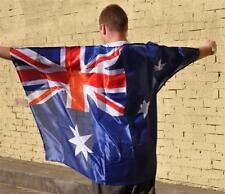 5 X Australian Flag Cape Australia Day Aussie Fan Costume Fancy Dress Unisex